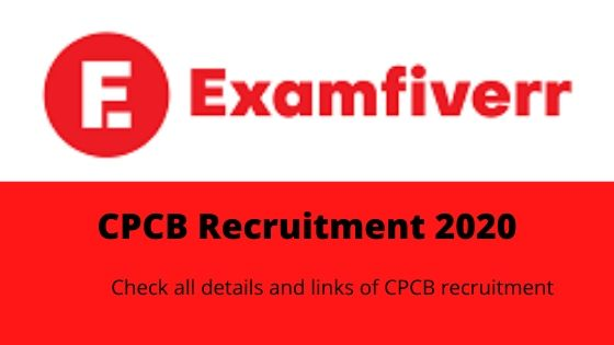 Examfiverr logo, with CPCB recruitment 2020 written below it.