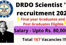 DRDO recruitment thumbnail