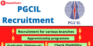 PGCIL recruitment for apprenticeship post