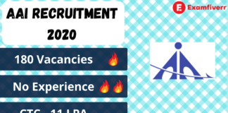 AAI recruitment 2020 details