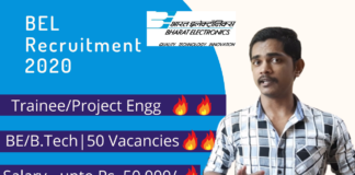BEL recruitment details linke post name, educational eligibility number of posts and salary.