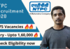 NTPC recruitment for 275 posts