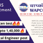 WAPCOS recruitment for Mechanical engineer post details