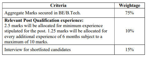 BEL selection criteria