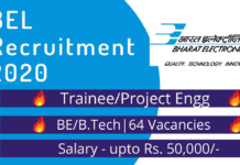 BEL recruitment drive