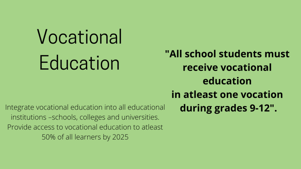 Vocational education and its aim and definition