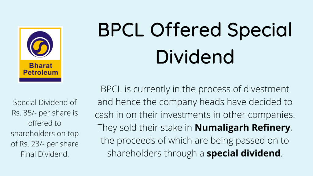 Special Dividend by BPCL explained